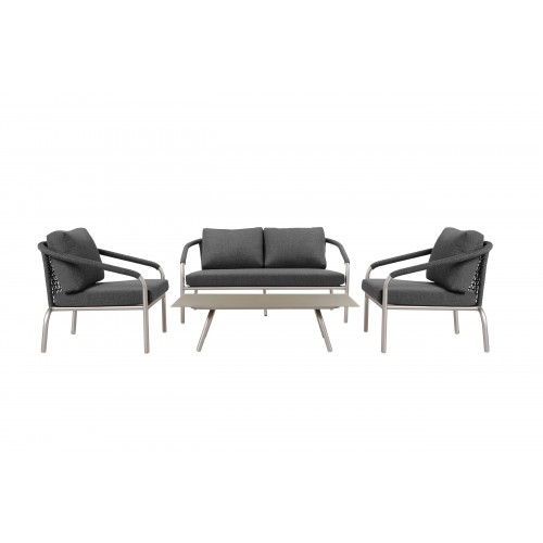 Chelsea 4 Piece Sofa Set, Slate