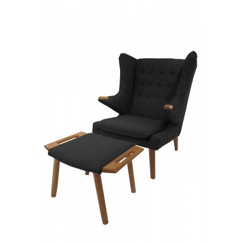Yogi Chair and Ottoman Set