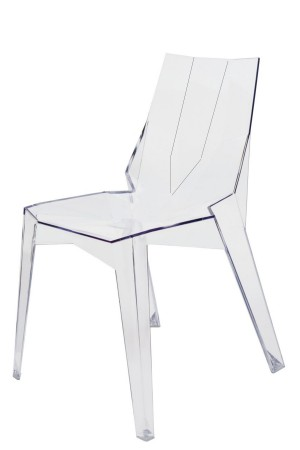 Arrow Dining Chair Side Clear