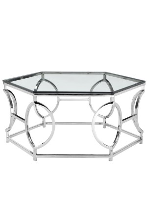 Arthur Coffee Table High Polish Steel