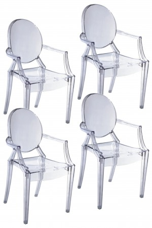 Bentley Arm Dining Chair Clear
