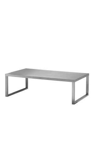 Clark Coffee Table Brushed Metal