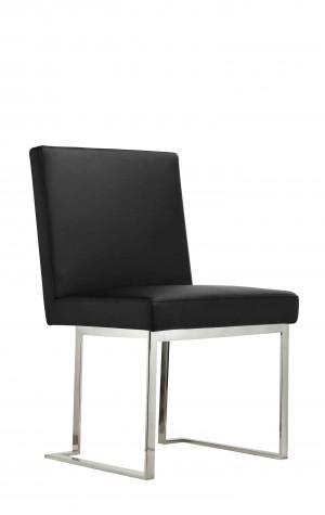 Dexter Side Chair Silver/Black PU