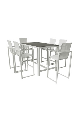 Piano 7 Piece Bar Set White