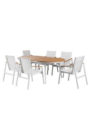 Sail 7 Piece Dining Set White