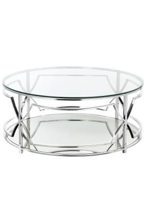 Edward Round Coffee Table High Polish Steel