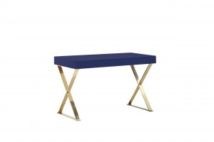 Gold Alexa Desk Navy