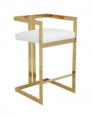 Gold Kenzie Bar Stool