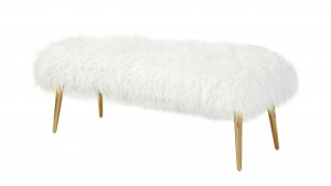 Lammy Bench Faux Fur