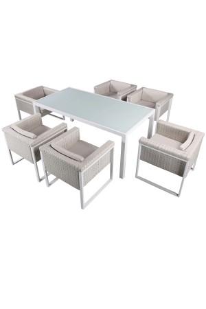 Kiwi 7 Piece Dining Set White