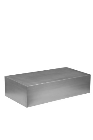 Spenser Coffee Table Brushed Metal