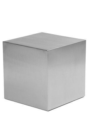 "Spenser 20"" Side Table Brushed Metal"