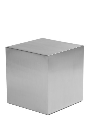 "Spenser 16"" Side Table Brushed Metal"