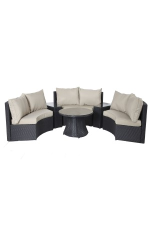 Light 6 Piece Sofa Set Taupe
