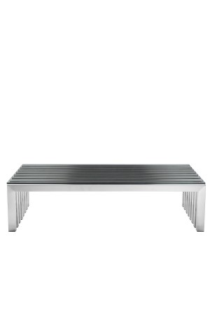 Vlad Coffee Table Rectangle Brushed Metal