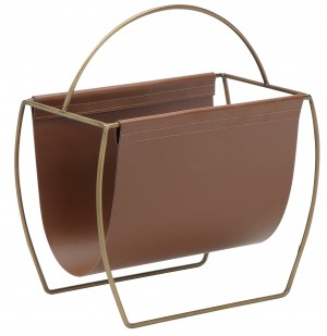 Blake Magazine Rack Brown