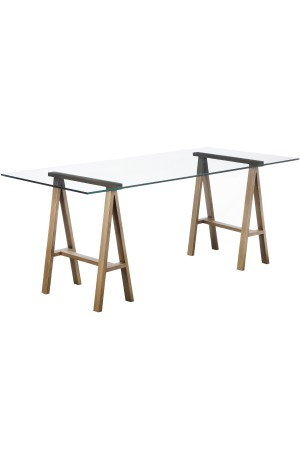 "Brady Desk 71"" Brass"