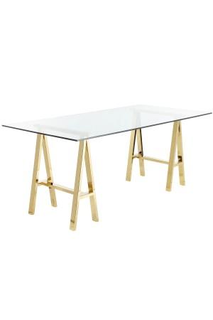 "Brady Desk 71"" Gold"