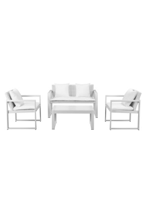 Chester Sofa Set White & White