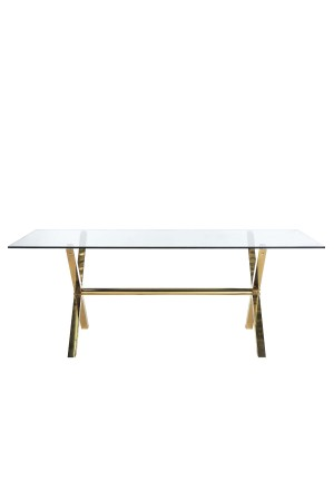 Gold Beverly Dining Table