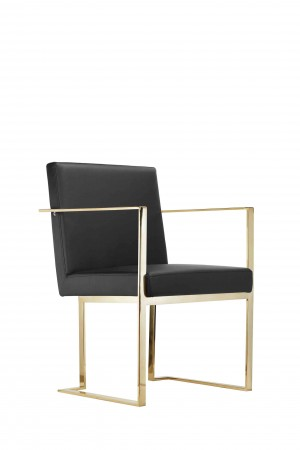 Gold Dexter Arm Chair Black