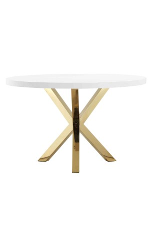Gold Remi Dining Table White & Gold Combo