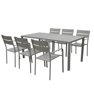 Miami 7 Piece Dining Set Gray