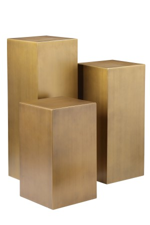 Miami Pedestal Set Brass