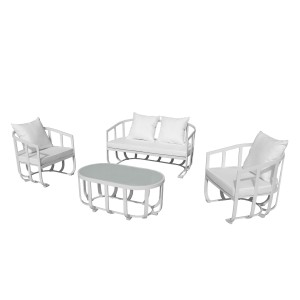 Naples 4 Piece Sofa Set