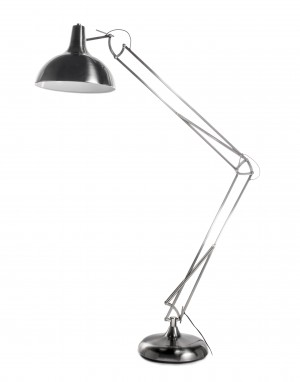 Olivia Floor Lamp Brushed Metal