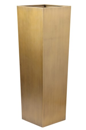 "Tall 48"" Planter Brass"