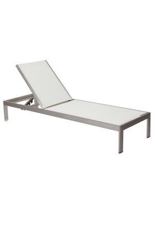 Sally Lounger White Brushed