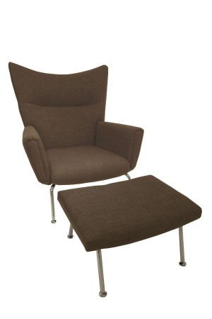 Vector Chair and Ottoman Set