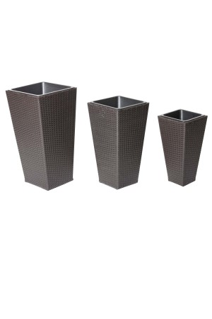 Violet 3 Piece Planter Set Brown