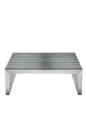 Vlad Coffee Table Square Brushed Metal
