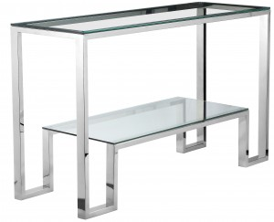 Laurence Console High Polish Steel